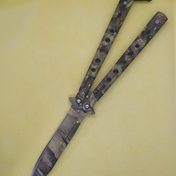 Camo Color Balisong Butterfly Knife
